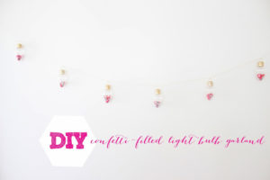 CONFETTI-FILLED LIGHT BULB GARLAND