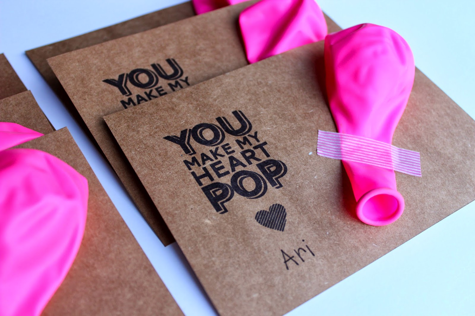 photo about You Make My Heart Pop Valentine Printable called BALLOON VALENTINES FOR Small children (No cost PRINTABLE)