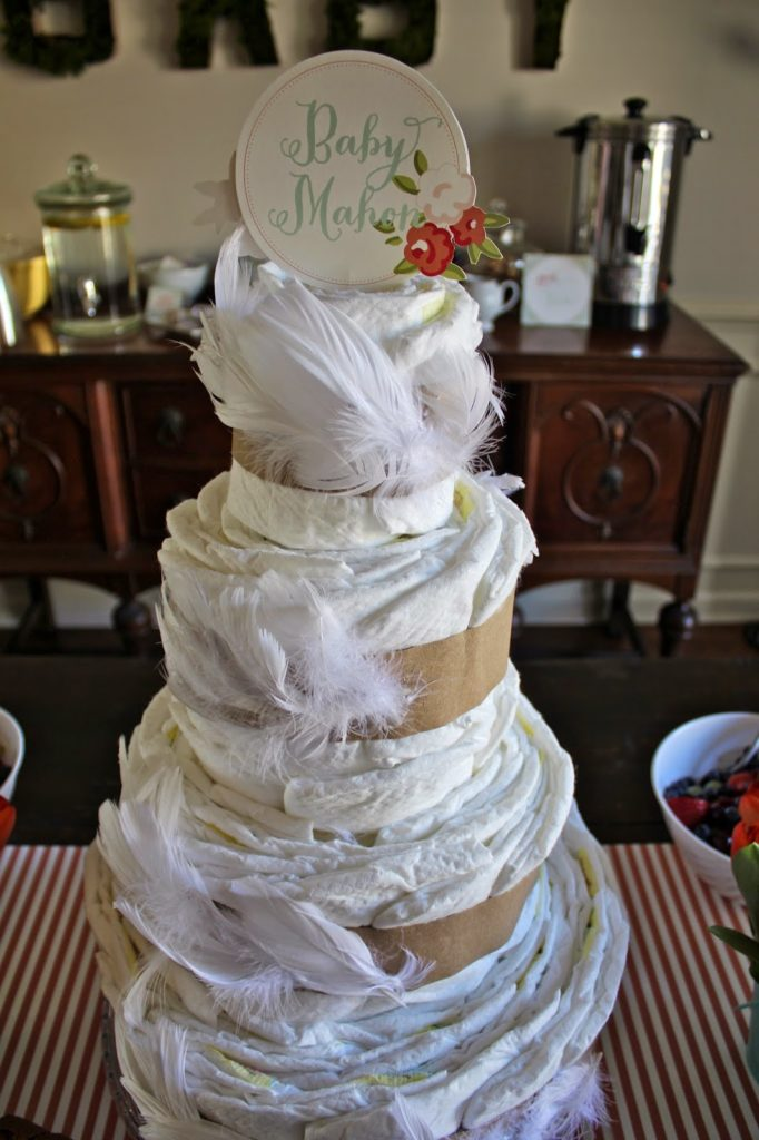 Can We Talk About That Diaper Cake Leah Did Such A Great Job Always Love Good Coordinates With The Shower Theme
