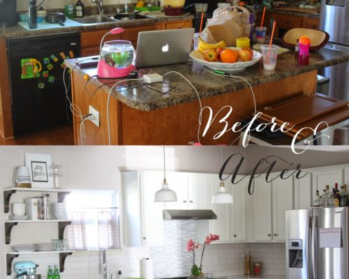 KITCHEN REDO : BEFORE & AFTER