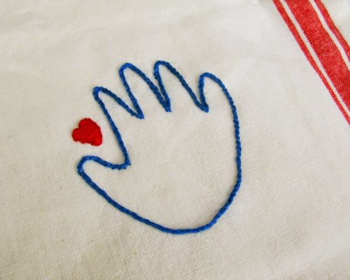 MOTHER'S DAY CRAFT: EMBROIDERED TEA TOWEL