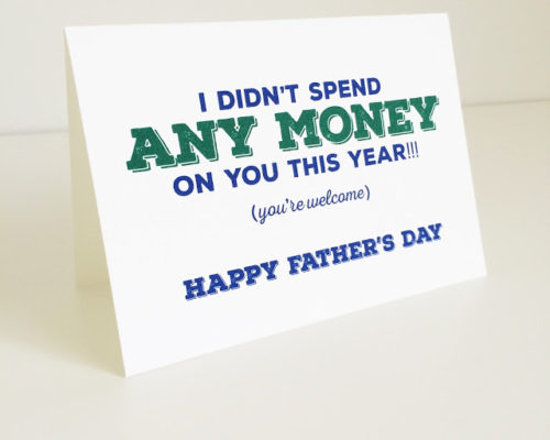 FATHER'S DAY CARD – FREE PRINTABLE