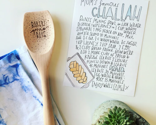 GIFT GUIDE: HAND LETTERED RECIPES