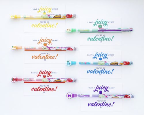 FRUIT PENCILS VALENTINE – FREE PRINTABLE