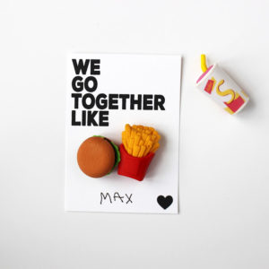 FOOD ERASERS CLASS VALENTINES (FREE PRINTABLE)