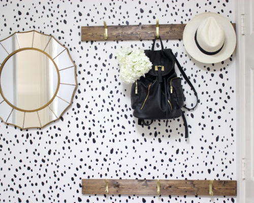 DALMATION WALL STENCIL | BEFORE & AFTER