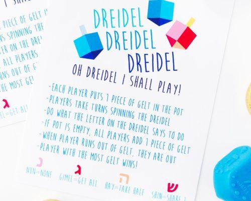DREIDEL GAME RULES – FREE PRINTABLE