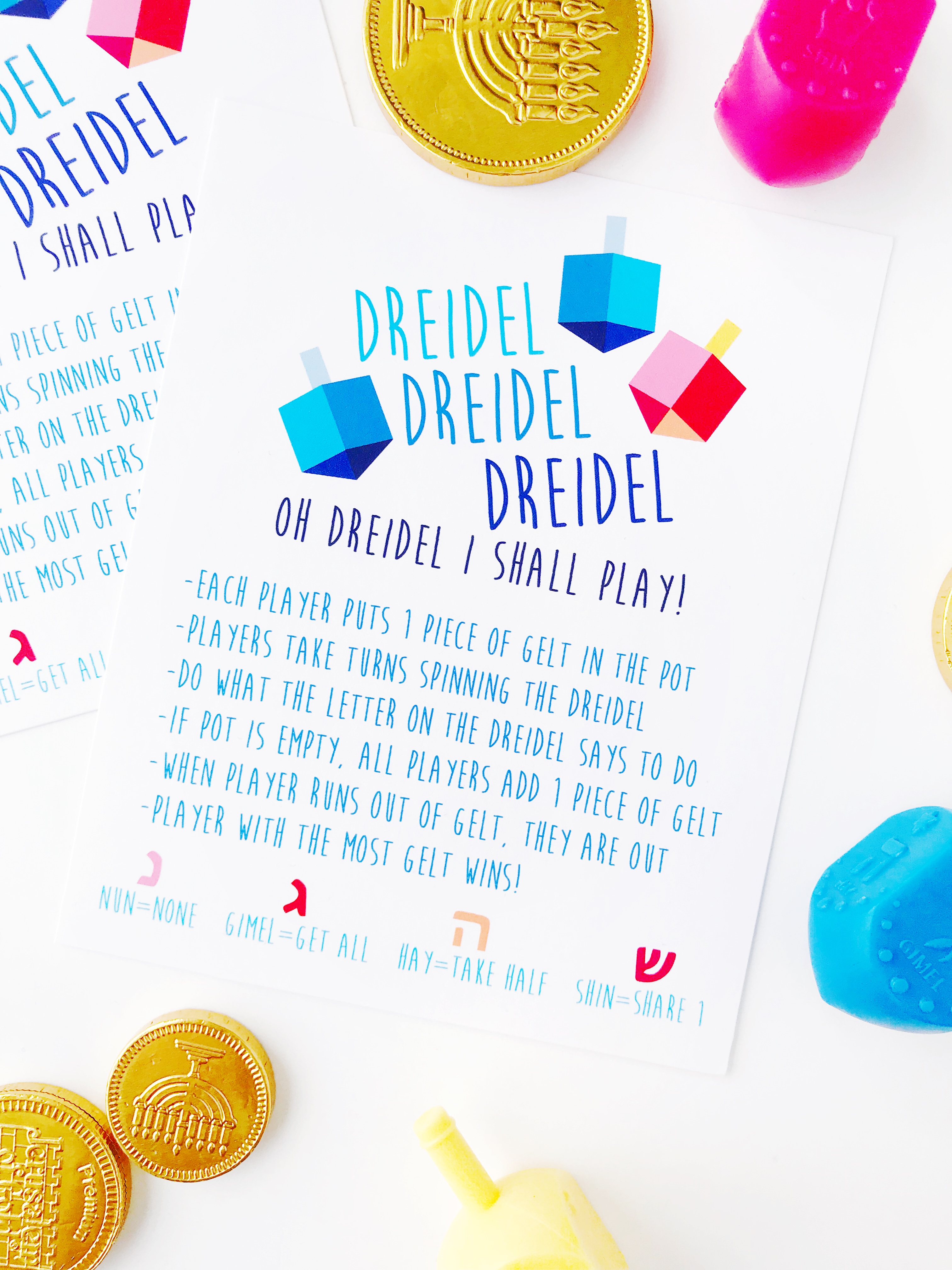 It is a picture of Mesmerizing How to Play the Dreidel Game Printable
