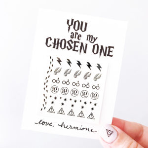 HARRY POTTER NAIL VALENTINES – FREE PRINTABLE
